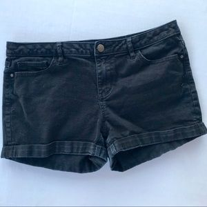 LC Lauren Conrad black denim shorts